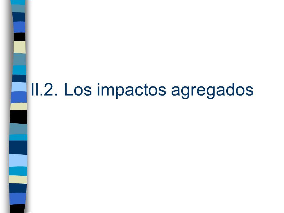 II.2. Los impactos agregados