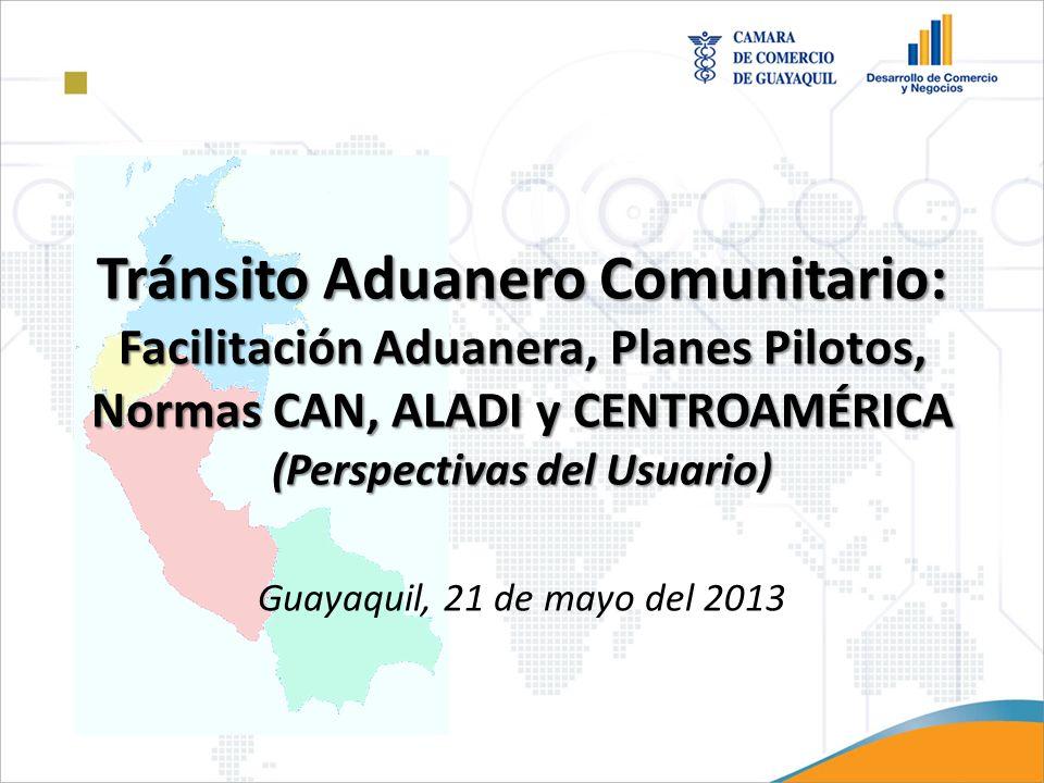 Plan Piloto: TIM Centroamérica Transferencia Internacional de Mercancías Aduaneras.