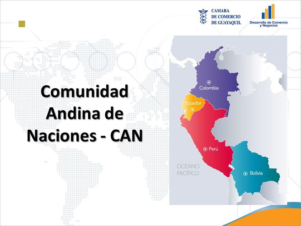 Marco Regulatorio CAN El comercio de países miembros de la Comunidad Andina de Naciones es regulado conforme a las decisiones basadas en el Acuerdo de Cartagena firmado el 26 de mayo de 1969, el marco regulatorio para transito aduanero se basa en: Decisión 617, Tránsito Aduanero Comunitario,(01.01.2006).