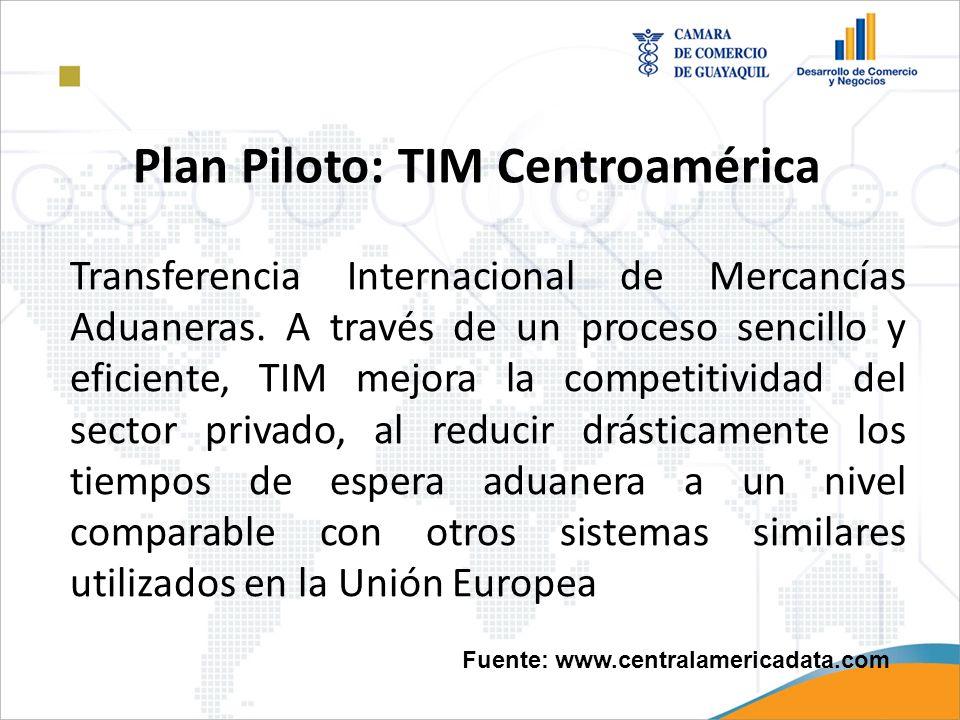 Plan Piloto: TIM Centroamérica Transferencia Internacional de Mercancías Aduaneras. A través de un proceso sencillo y eficiente, TIM mejora la competi