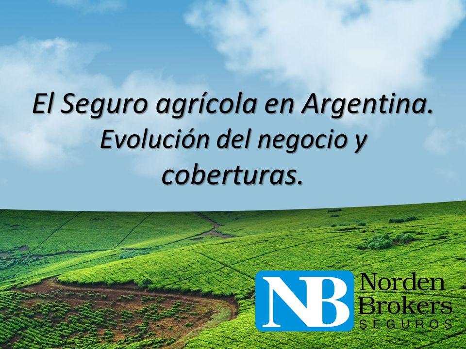 El Seguro agrícola en Argentina. Evolución del negocio y coberturas.