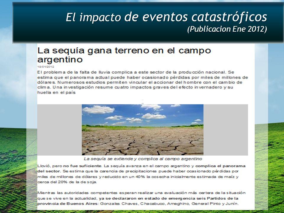 El impacto de eventos catastróficos (Publicacion Ene 2012)