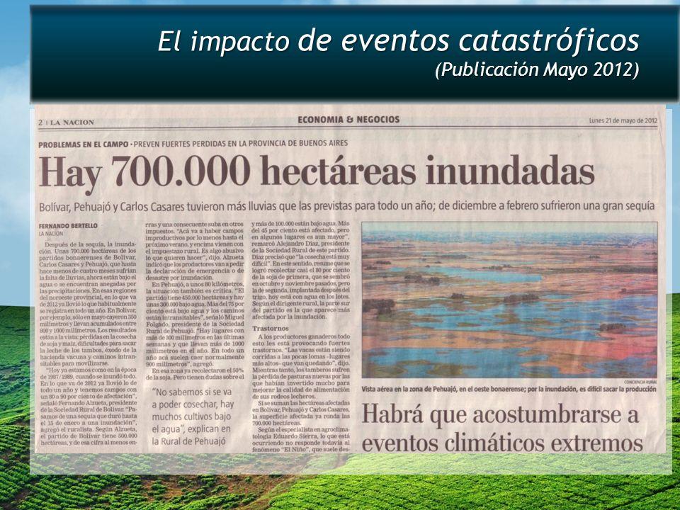 El impacto de eventos catastróficos (Publicación Mayo 2012)