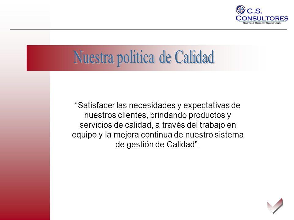 Satisfacer sus necesidades en materia de calidad Las rigurosas inspecciones de calidad y las auditorias en planta de producción que C.S.