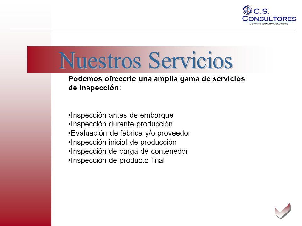 También Hemos trabajado para clientes extranjeros, tanto de Norteamérica como de Sudamérica.
