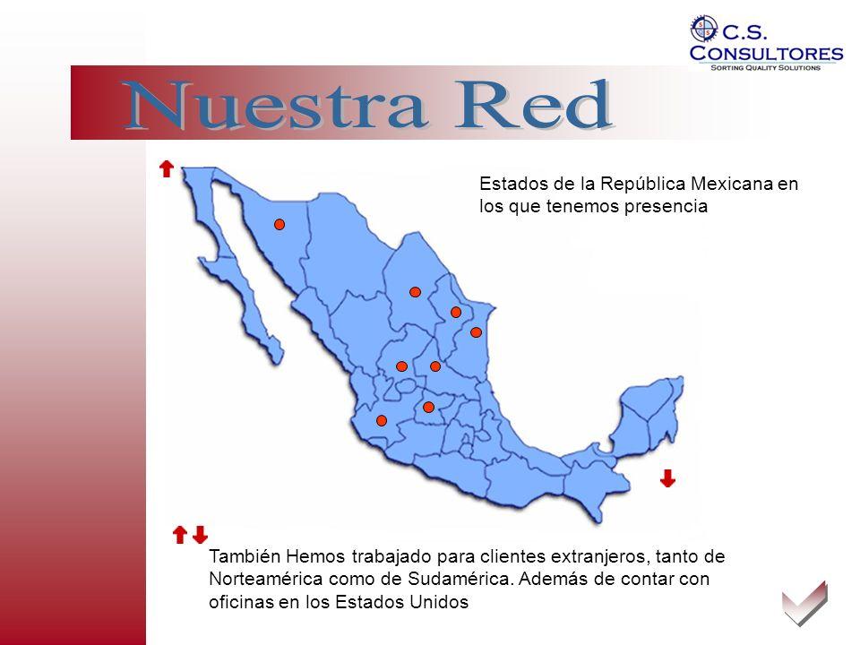 También Hemos trabajado para clientes extranjeros, tanto de Norteamérica como de Sudamérica. Además de contar con oficinas en los Estados Unidos Estad