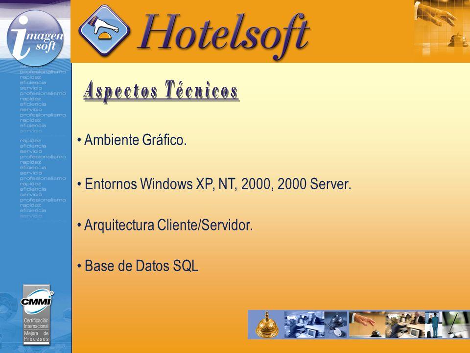 Arquitectura Cliente/Servidor. Ambiente Gráfico. Entornos Windows XP, NT, 2000, 2000 Server. Base de Datos SQL