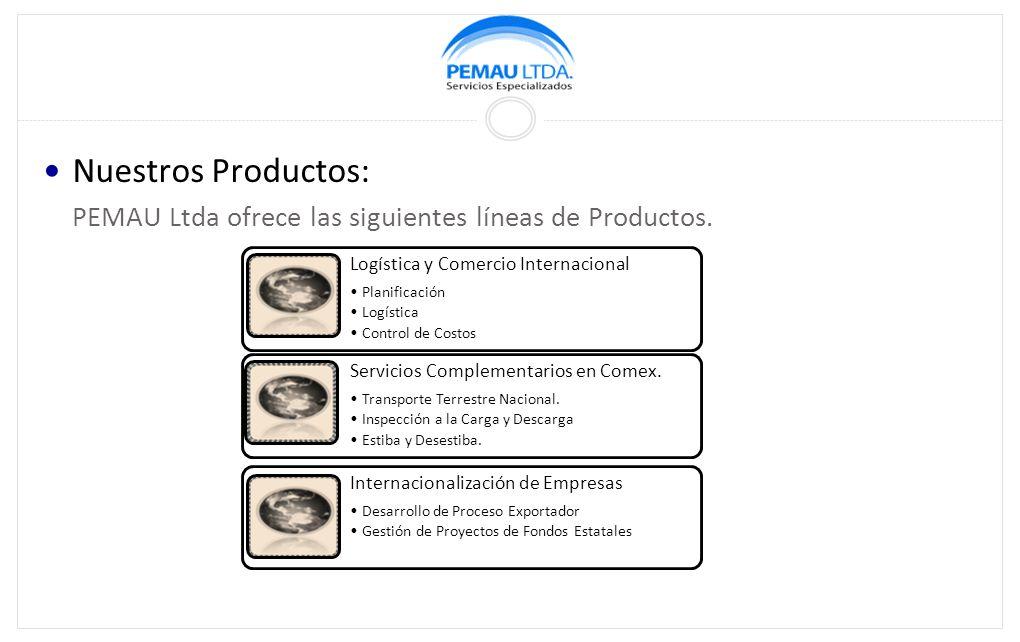 Nuestros Productos: PEMAU Ltda ofrece las siguientes líneas de Productos.