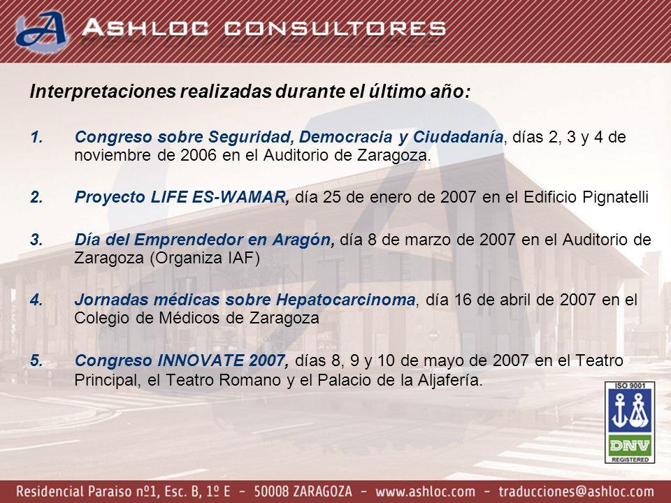6.Inicio de los Trabajos e Inauguración de la Oficina de Naciones Unidas de la Década del Agua en Zaragoza, días 4 y 5 de octubre de 2007 en el Edificio Pignatelli y Casa Solans.