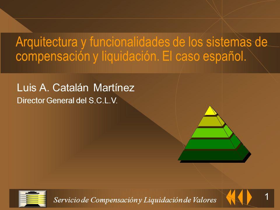 Servicio de Compensación y Liquidación de Valores 1 Arquitectura y funcionalidades de los sistemas de compensación y liquidación.