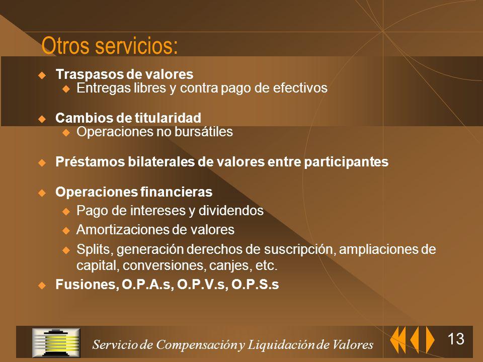 Servicio de Compensación y Liquidación de Valores 12 Banco de spaña Proceso de Liquidación en A.I.A.F.: Instrucciones de Liquidación ENTIDADES ADHERID