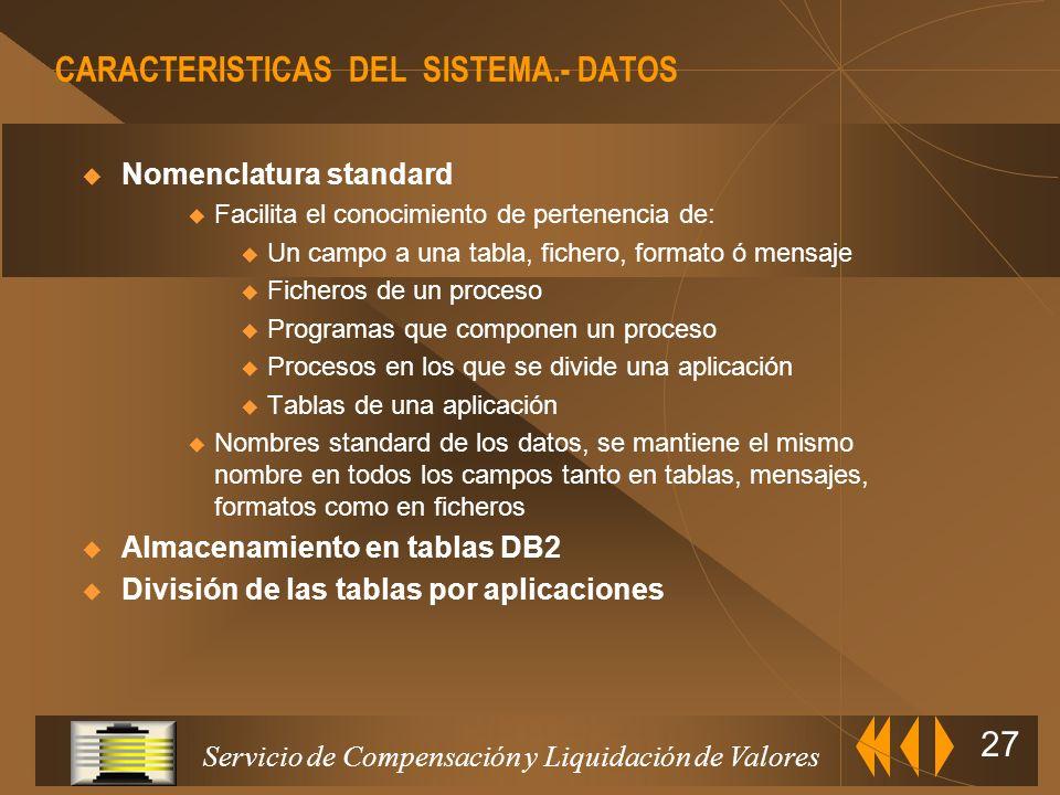 Servicio de Compensación y Liquidación de Valores 26 Arquitectura y funcionalidades de los sistemas de compensación y liquidación DISEÑO TÉCNICO