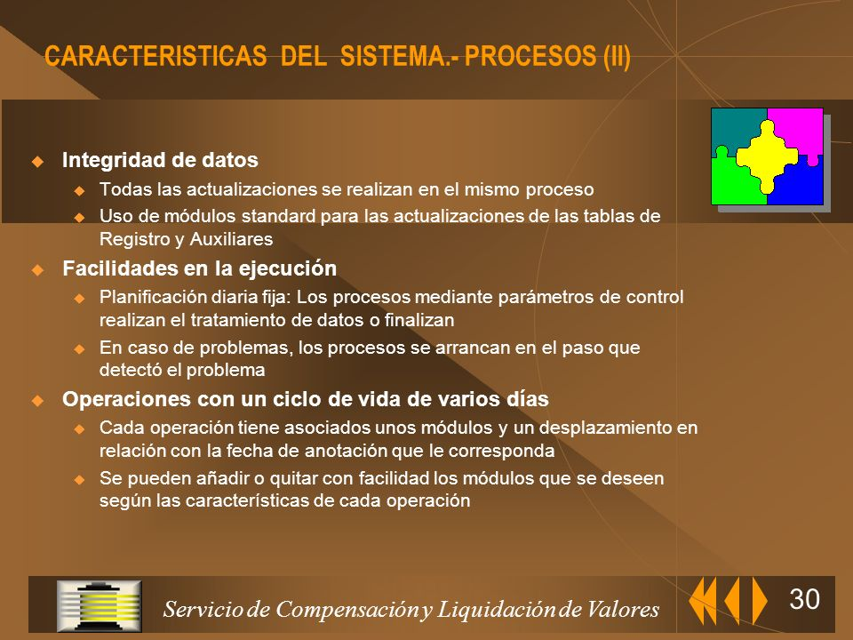 Servicio de Compensación y Liquidación de Valores 29 Contestación Tratamiento actuación S Tratamiento actuación E Validación General Se define un proc