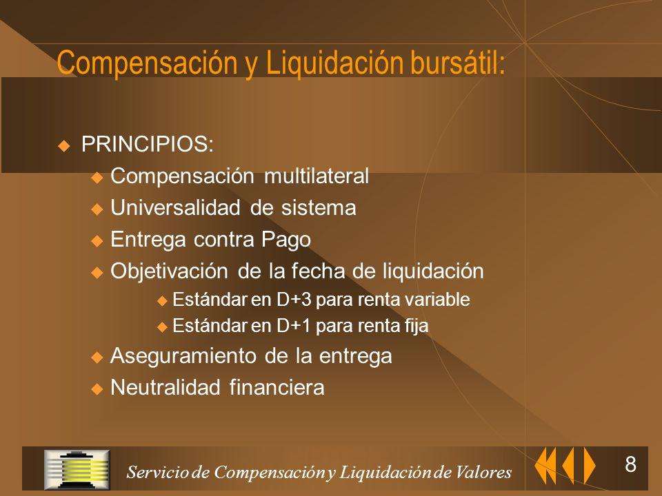 Servicio de Compensación y Liquidación de Valores 7 Registro de doble escalón compartido con las entidades adheridas Transmisión de valores por transf