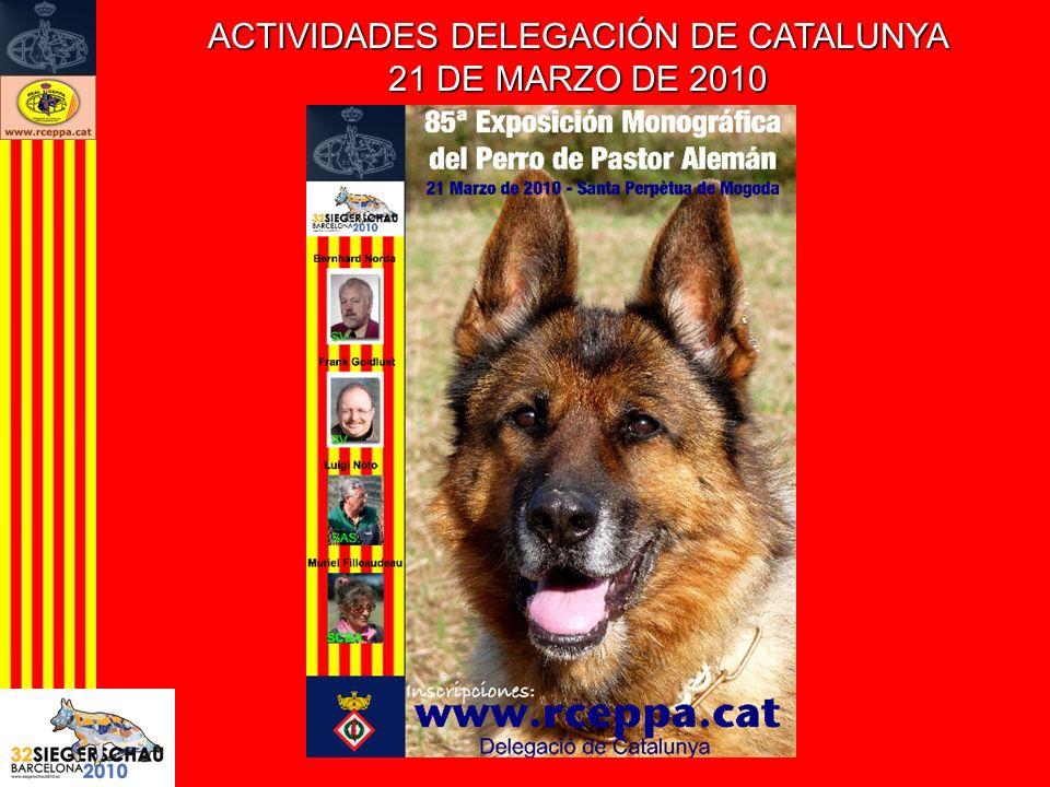 ACTIVIDADES DELEGACIÓN DE CATALUNYA 21 DE MARZO DE 2010