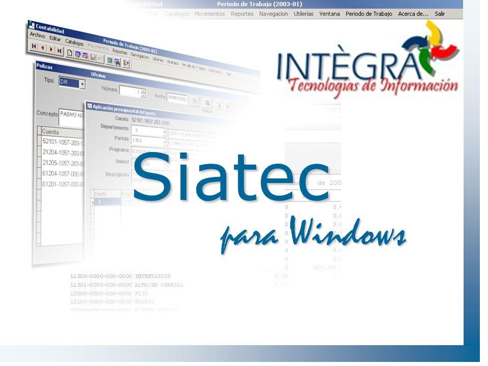 Arquitectura de SIATEC ViáticosProveedores Caja Contabilidad - Emisión de Recibos Oficiales - Oficios Comisión - Comprobación de Gastos.