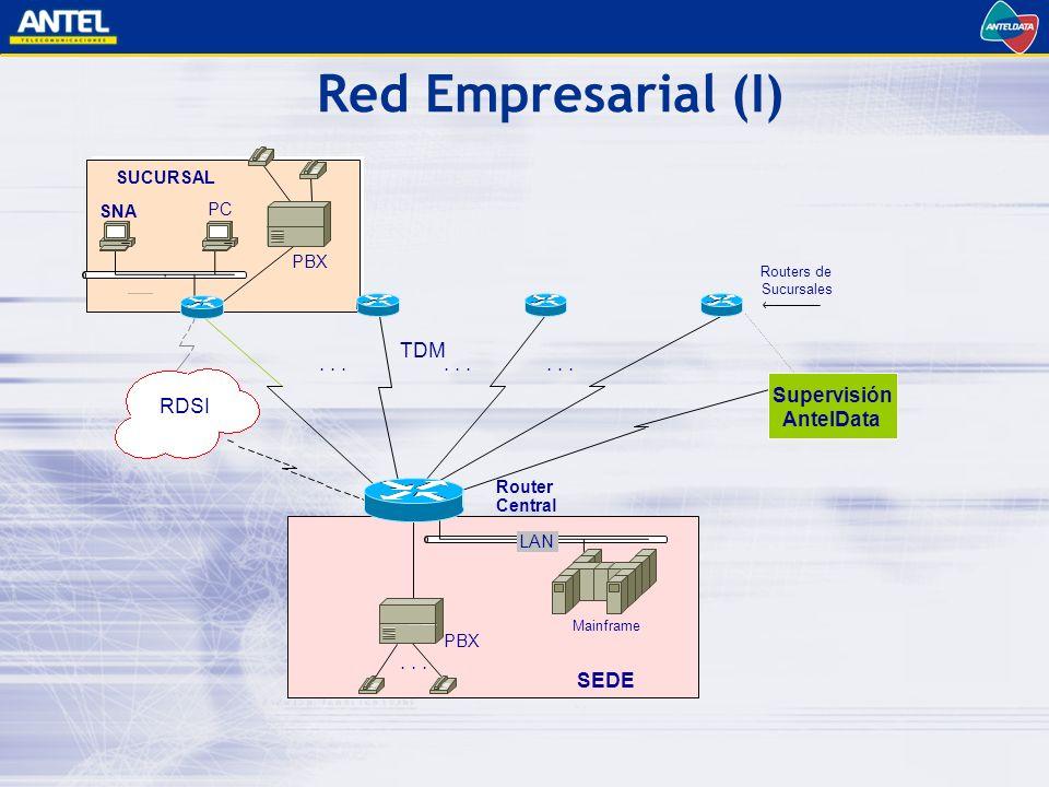 LAN Routers de Sucursales Router Central...TDM...