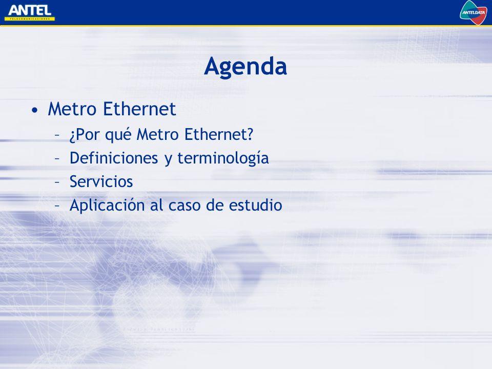 Agenda Metro Ethernet –¿Por qué Metro Ethernet.