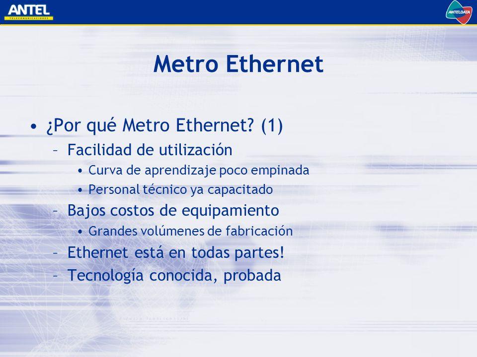 Metro Ethernet ¿Por qué Metro Ethernet.