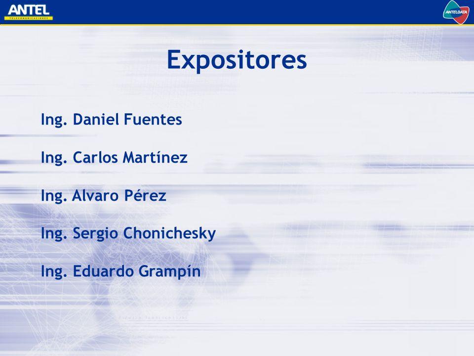Ing.Daniel Fuentes Ing. Carlos Martínez Ing. Alvaro Pérez Ing.
