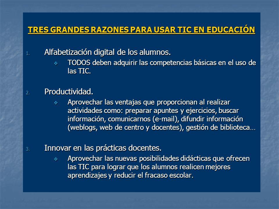 TRES GRANDES RAZONES PARA USAR TIC EN EDUCACIÓN 1.