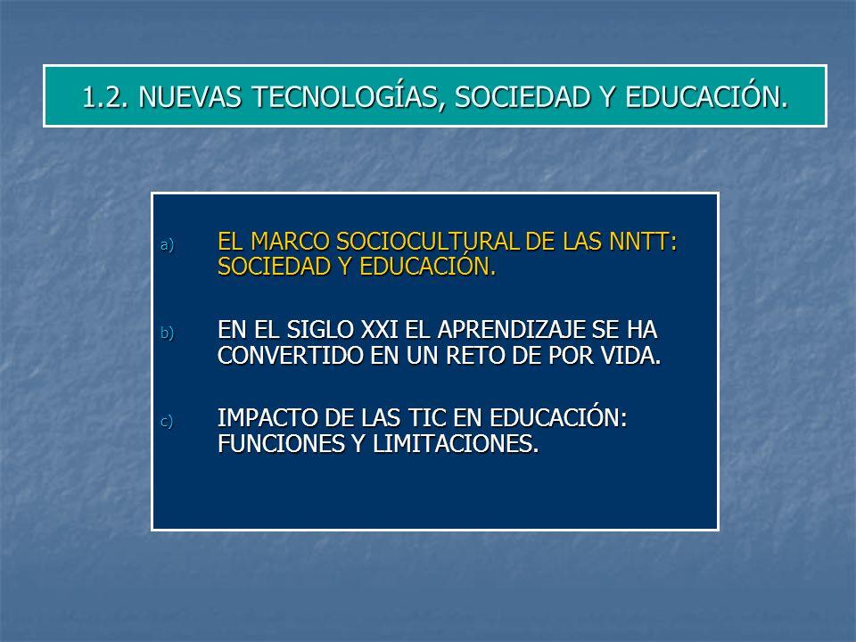 1.2.NUEVAS TECNOLOGÍAS, SOCIEDAD Y EDUCACIÓN.