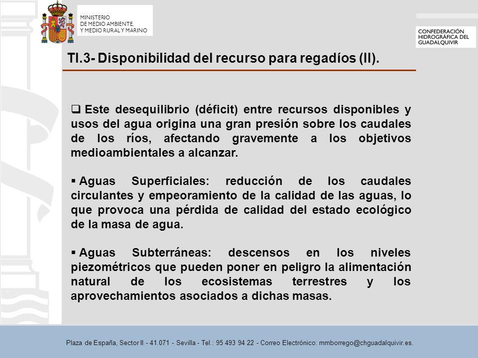 Plaza de España, Sector II - 41.071 - Sevilla - Tel.: 95 493 94 22 - Correo Electrónico: mmborrego@chguadalquivir.es.