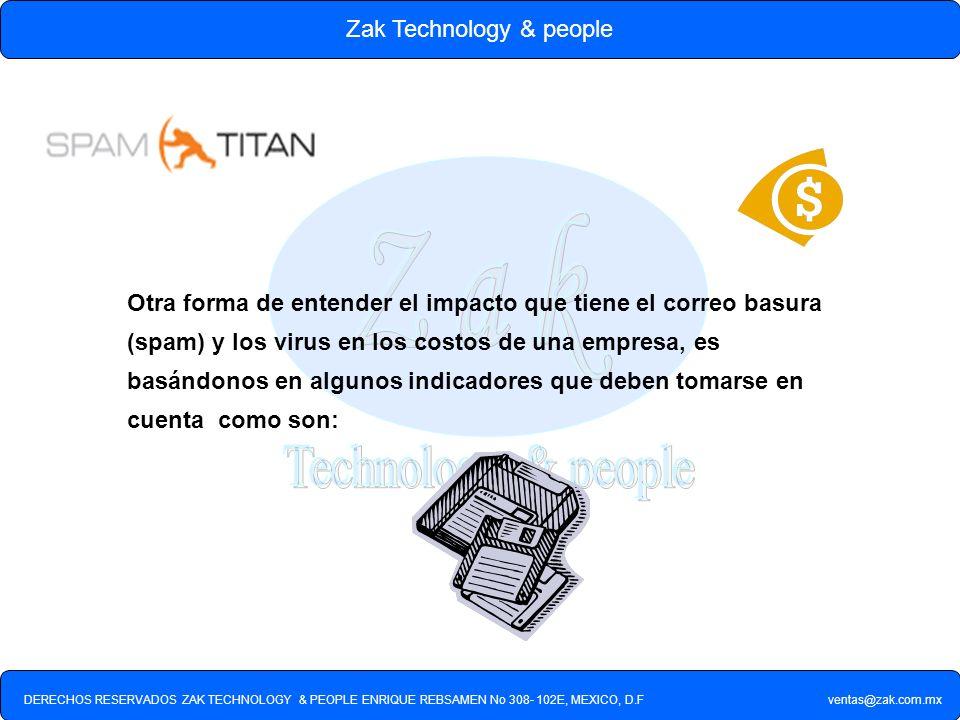 DERECHOS RESERVADOS ZAK TECHNOLOGY & PEOPLE ENRIQUE REBSAMEN No 308- 102E, MEXICO, D.F ventas@zak.com.mx Zak Technology & people Otra forma de entende