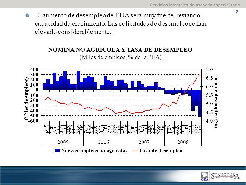 Servicios integrales de asesoría especializada 29 III. III. Marco macroeconómico 2008-2009