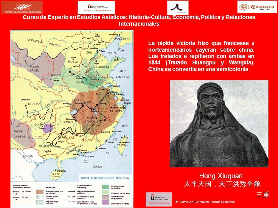 La rápida victoria hizo que franceses y norteamericanos cayeran sobre china. Los tratados e repitieron con ambas en 1844 (Tratado Huangpu y Wangxia).