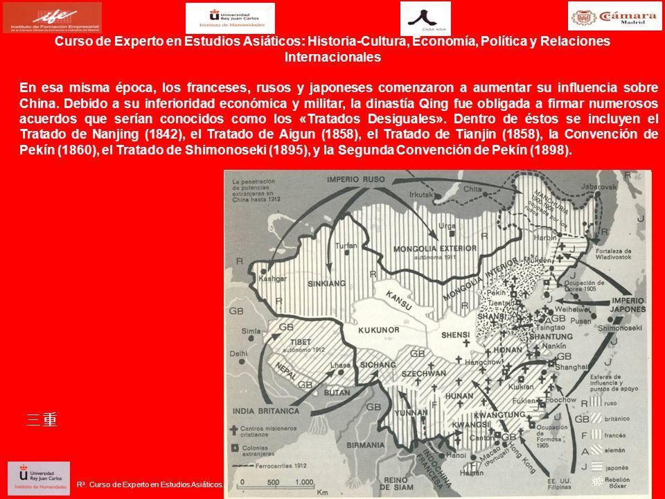 En esa misma época, los franceses, rusos y japoneses comenzaron a aumentar su influencia sobre China. Debido a su inferioridad económica y militar, la