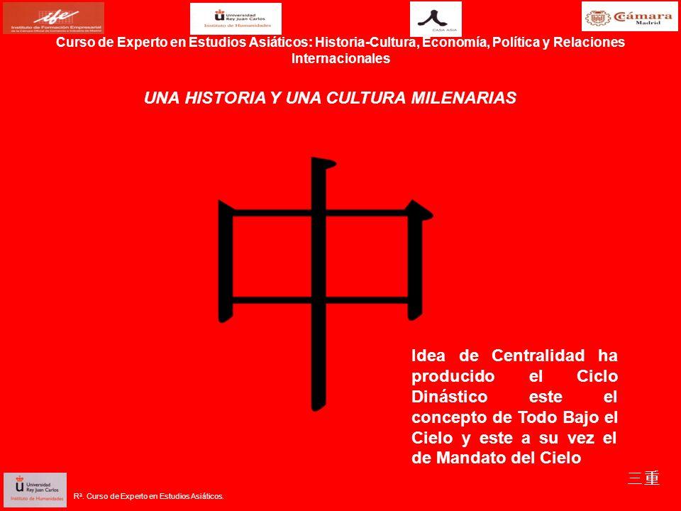 Curso de Experto en Estudios Asiáticos: Historia-Cultura, Economía, Política y Relaciones Internacionales UNA HISTORIA Y UNA CULTURA MILENARIAS Idea d