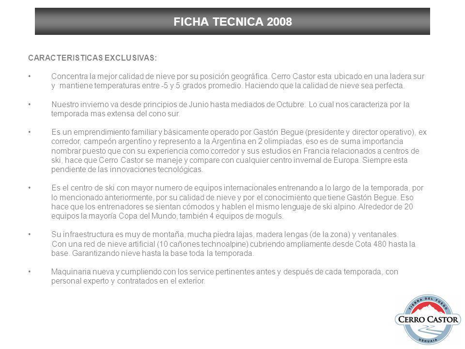 FICHA TECNICA 2008 MAQUINARIAS: a.