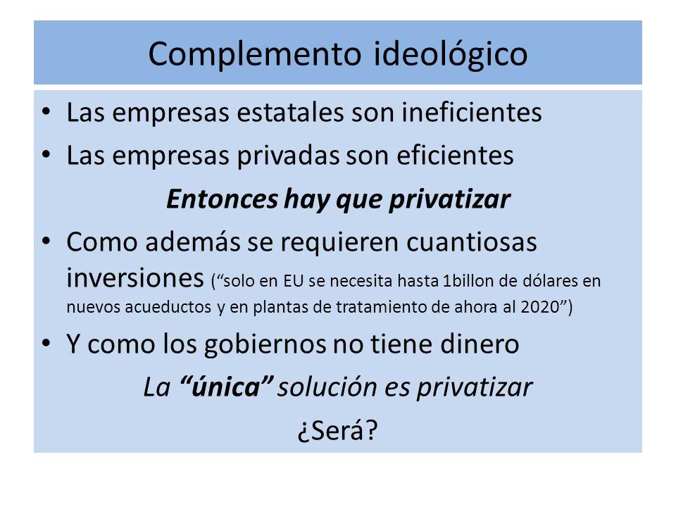 El mito neoliberal de la eficiencia empresarial En México y el mundo han existido muchísimas empresas estatales o públicas que son eficientes.