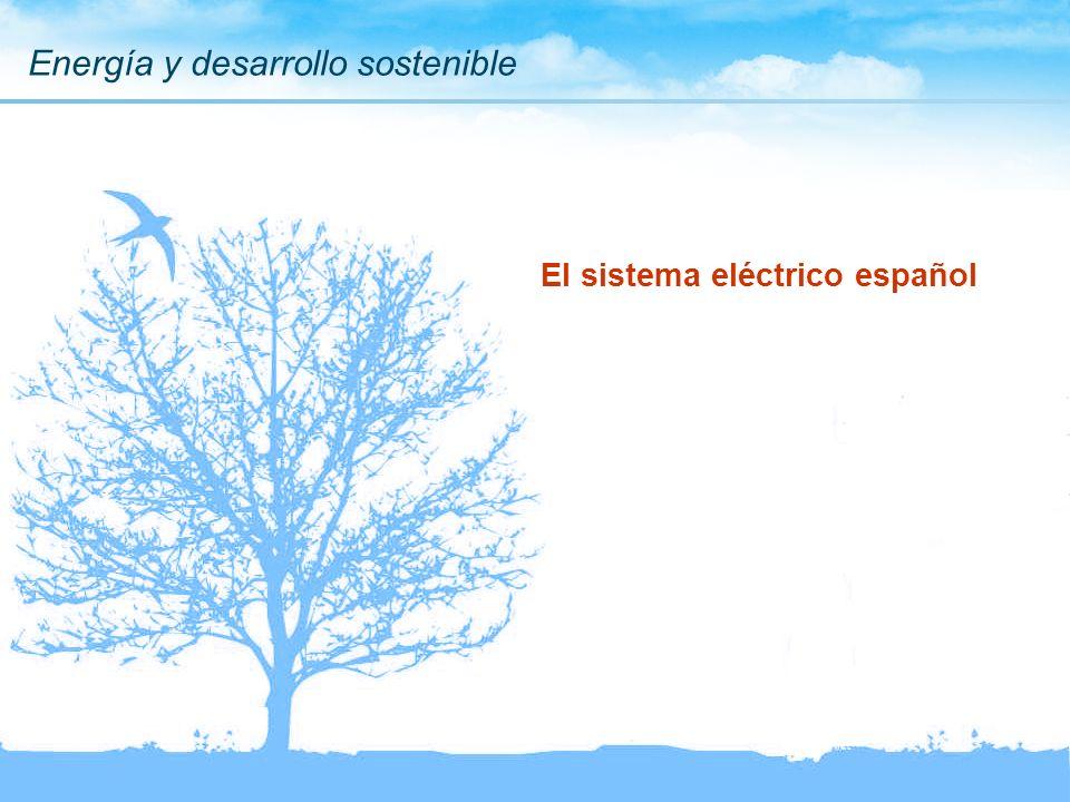 Energía y desarrollo sostenible El sistema eléctrico español