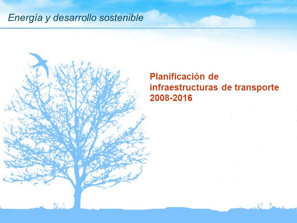 Energía y desarrollo sostenible Planificación de infraestructuras de transporte 2008-2016