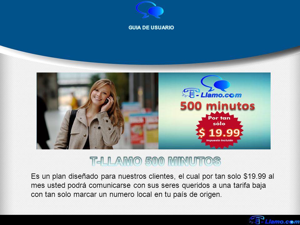 Es un plan diseñado para nuestros clientes, el cual por tan solo $19.99 al mes usted podrá comunicarse con sus seres queridos a una tarifa baja con ta