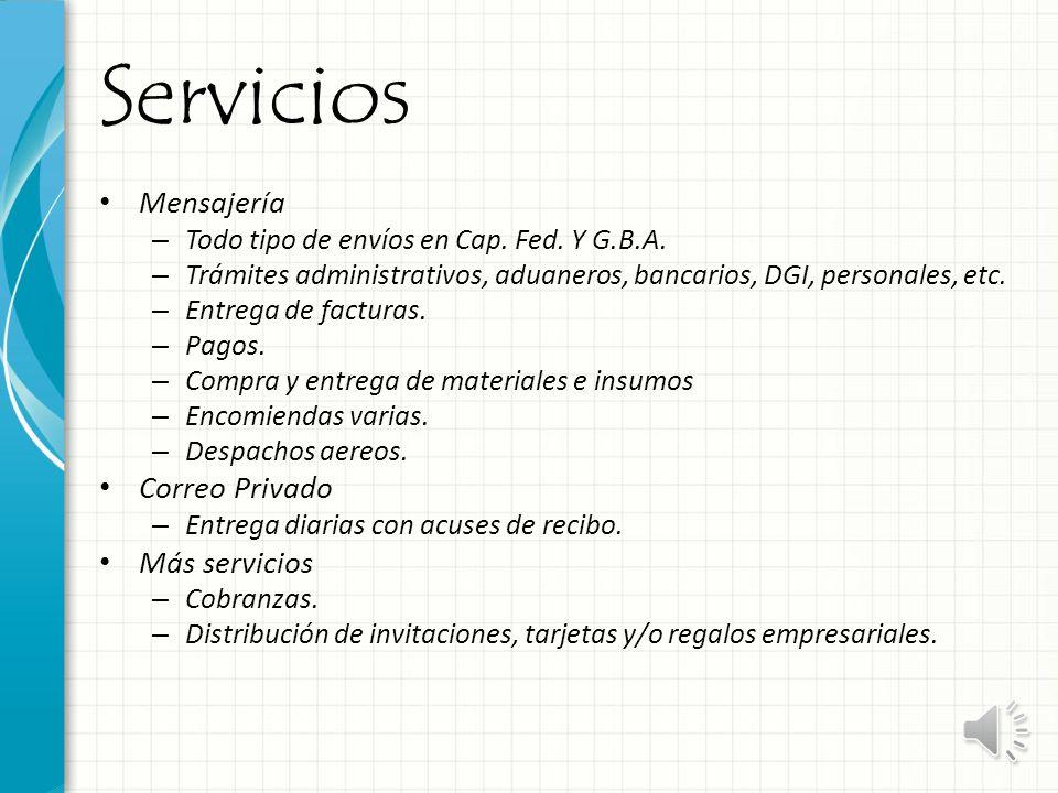 Servicios Mensajería – Todo tipo de envíos en Cap.