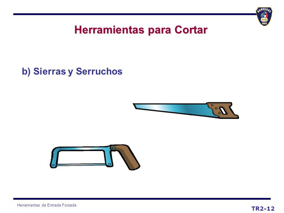 Herramientas de Entrada Forzada TR2-12 Herramientas para Cortar b) Sierras y Serruchos