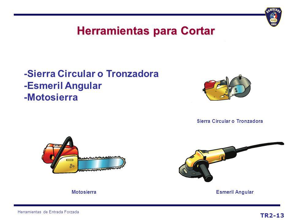 Herramientas de Entrada Forzada TR2-13 Herramientas para Cortar -Sierra Circular o Tronzadora -Esmeril Angular -Motosierra Sierra Circular o Tronzador