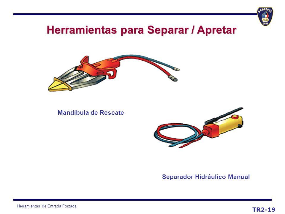 Herramientas de Entrada Forzada TR2-19 Mandíbula de Rescate Separador Hidráulico Manual Herramientas para Separar / Apretar