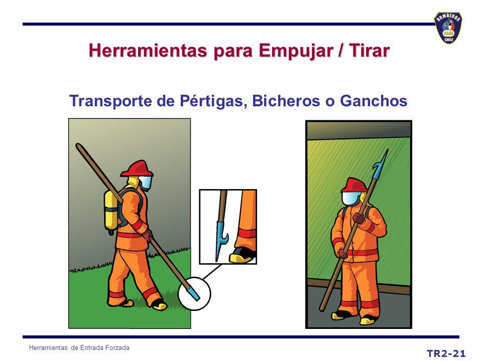 Herramientas de Entrada Forzada TR2-21 Herramientas para Empujar / Tirar Transporte de Pértigas, Bicheros o Ganchos