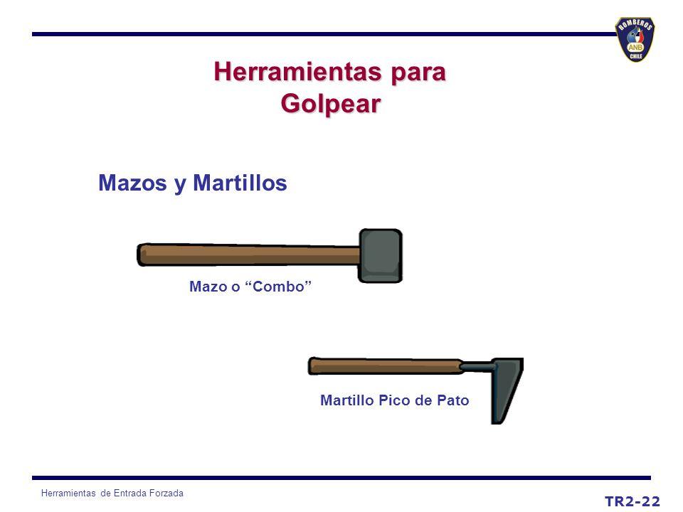 Herramientas de Entrada Forzada TR2-22 Mazos y Martillos Mazo o Combo Martillo Pico de Pato Herramientas para Golpear
