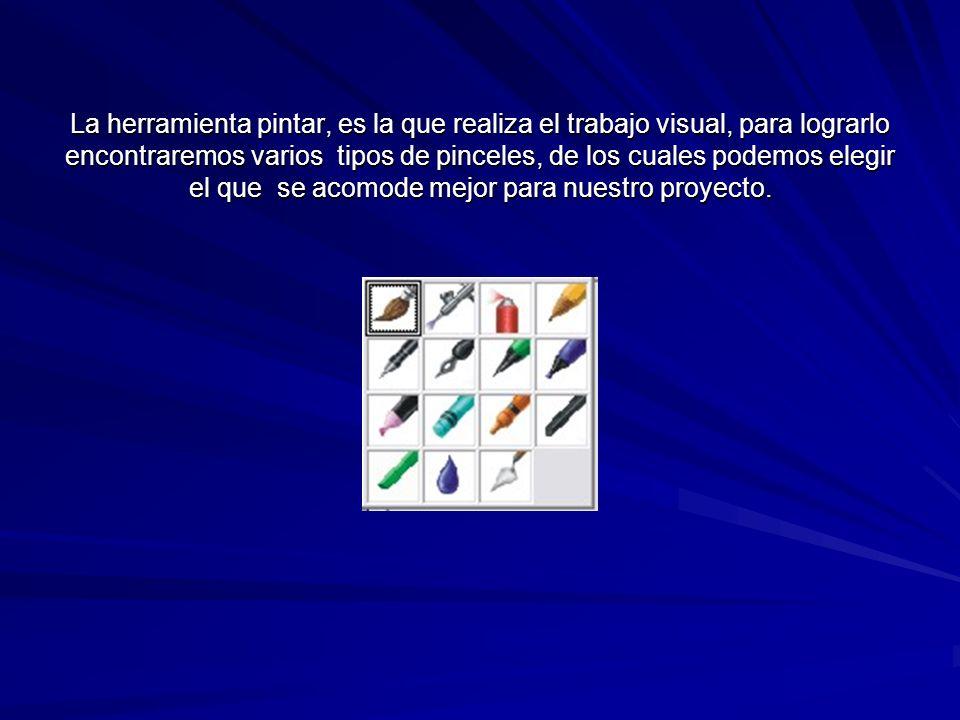 barra de propiedades Ejemplo: Barra de propiedades de la herramienta pintar.