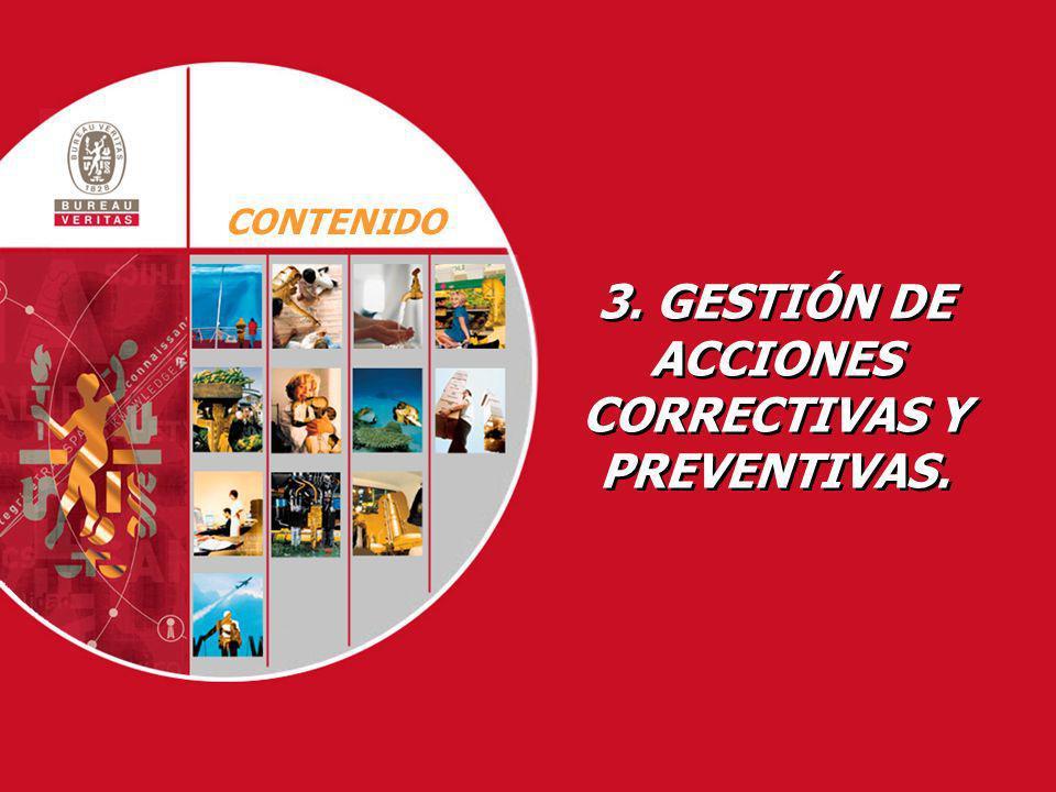 3. GESTIÓN DE ACCIONES CORRECTIVAS Y PREVENTIVAS. 3. GESTIÓN DE ACCIONES CORRECTIVAS Y PREVENTIVAS. CONTENIDO