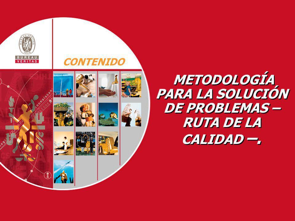 METODOLOGÍA PARA LA SOLUCIÓN DE PROBLEMAS – RUTA DE LA CALIDAD –. CONTENIDO