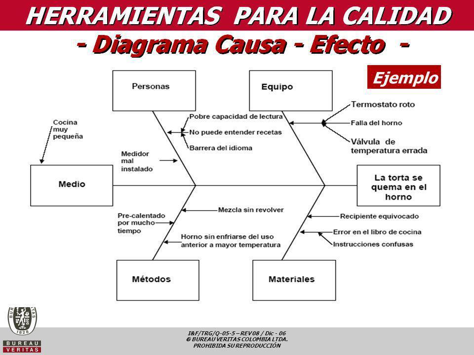 I&F/TRG/Q-05-5 – REV 08 / Dic - 06 BUREAU VERITAS COLOMBIA LTDA. PROHIBIDA SU REPRODUCCIÓN Ejemplo