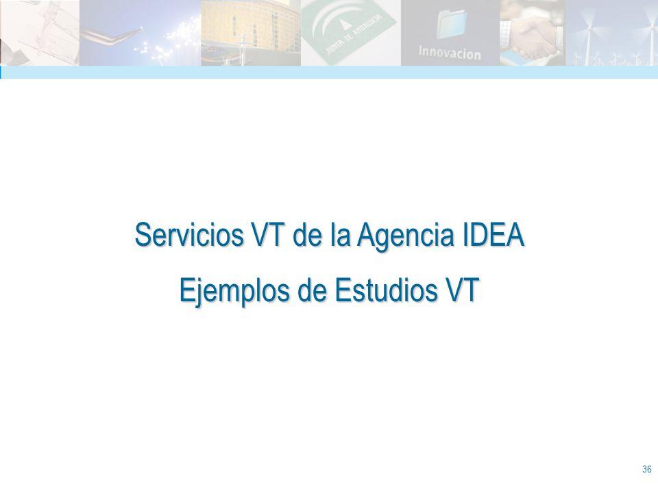 36 Servicios VT de la Agencia IDEA Ejemplos de Estudios VT
