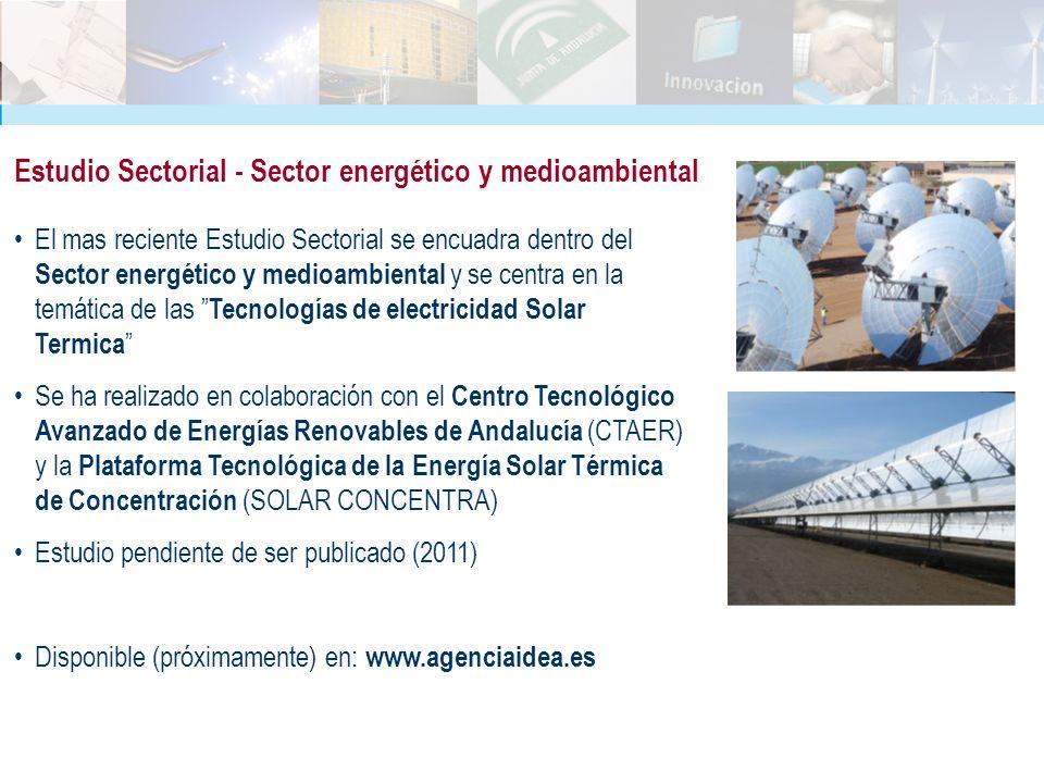 El mas reciente Estudio Sectorial se encuadra dentro del Sector energético y medioambiental y se centra en la temática de las Tecnologías de electrici