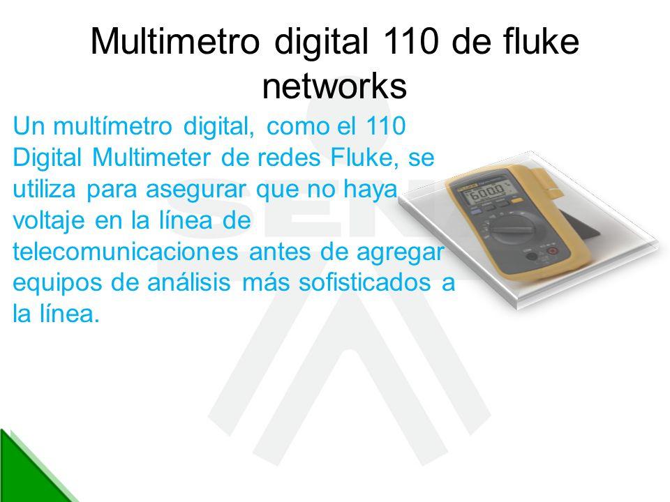 Multimetro digital 110 de fluke networks Un multímetro digital, como el 110 Digital Multimeter de redes Fluke, se utiliza para asegurar que no haya vo